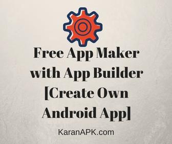 Free App Maker with App Builder